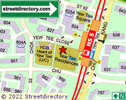 YEWTEE RESIDENCES | Location & Map