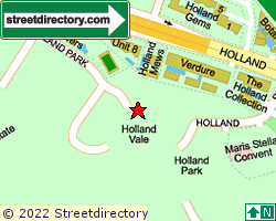 HOLLAND VALE | Location & Map