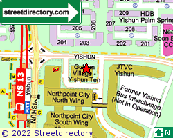 GOLDEN VILLAGE - YISHUN | Location & Map