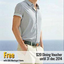 Get $20 Waraku Dining voucher with $80 Montagut Merchandise!