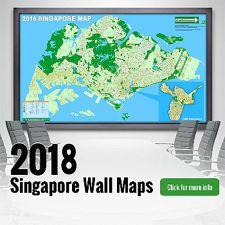 New 2018 Singapore Wall Maps