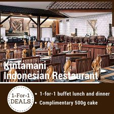 1 For 1 Buffet Lunch & Dinner! Adult $58++ & Child $20++