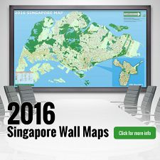 New 2016 Singapore Wall Maps