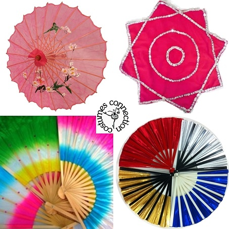 Dance Accessories  (Prop Umbrella, Handkerchief, Silk Fan, Gongfu Fan)
