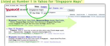 Yahoo Singapore Maps