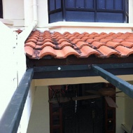 Awning, roof structure & metal roof