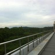 Singtel builing roof top stainless steel railing 316L grade AMK