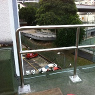 Singtel builing roof top stainless steel railing 316L grade AY