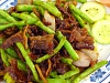 French Bean w/Crispy Pork (Medium)   四季豆炒脆肉 (中)