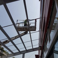 add to awning roof structure