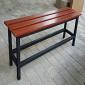 Basic Bench: Steel under-frame with hardwood seat slats L800 - L1800 x D350 x H450 mm