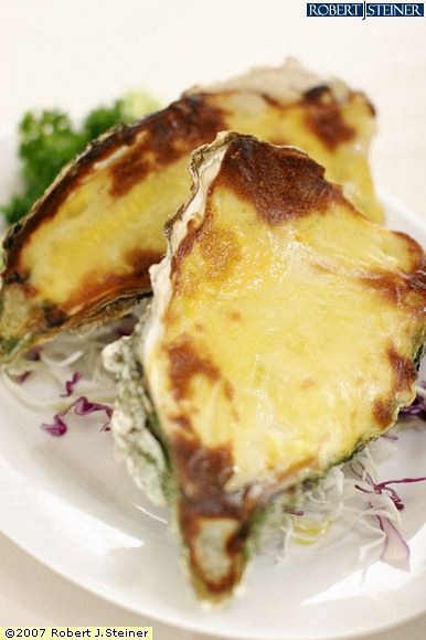 Canadian Jumbo Oyster Baked With Cheese And Butter