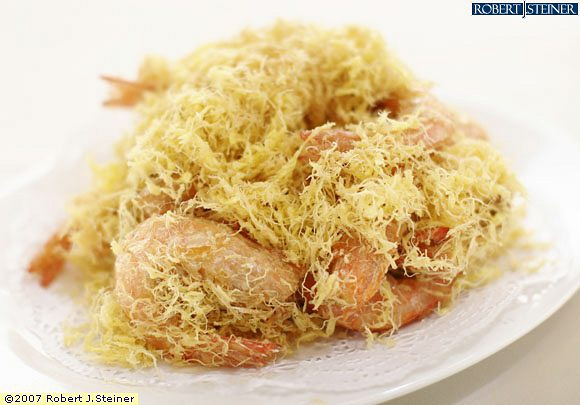 Deep Fried Sea White Prawns With Butter Cream
