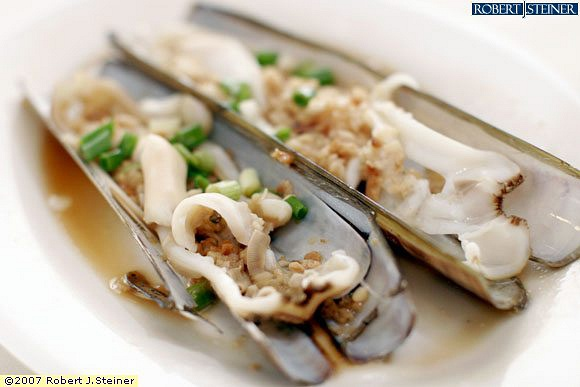 Steamed Scottish Bamboo Clam With Garlic