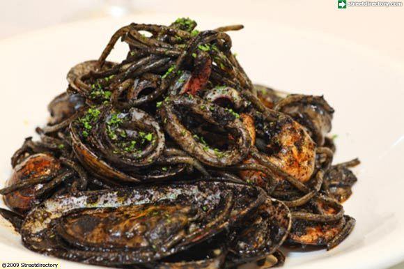 Spaghetti Pescatore Al Nero Di Seppia