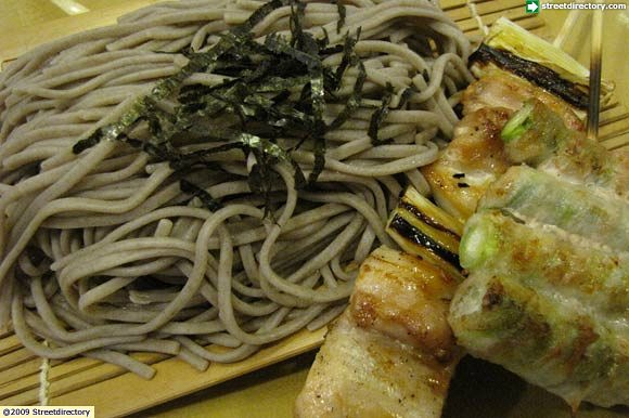 12) Cold Soba w Yakitori Set