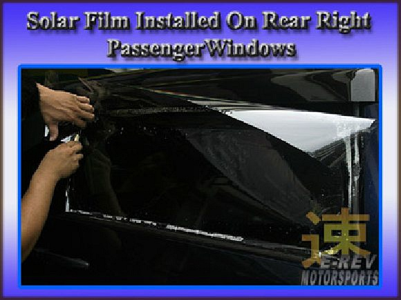 Dark colour solar film for rear window