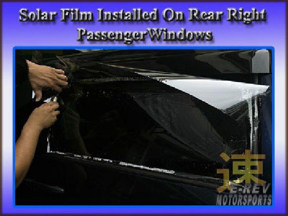 Dark colour solar film for rear window