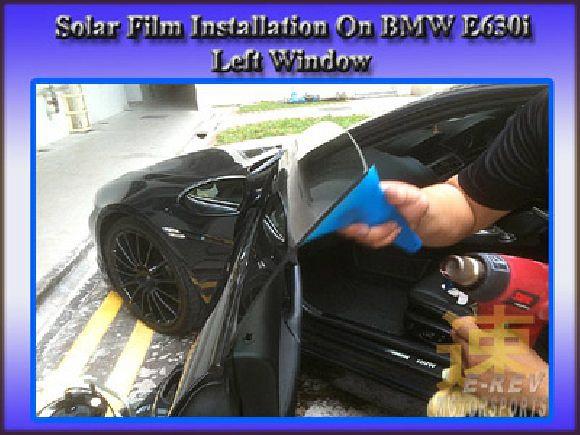 Installation of solar film