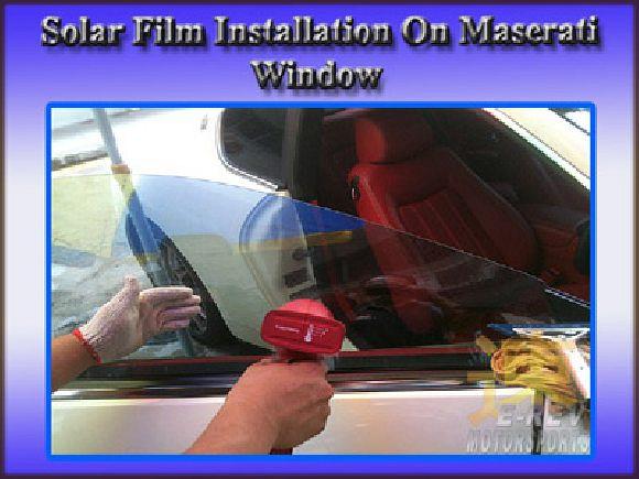 Preparation for solar film onto contour