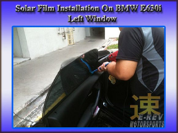 Final touch up on solar film