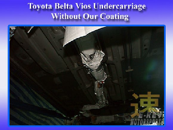 Toyota vios undercarriage without sound proof