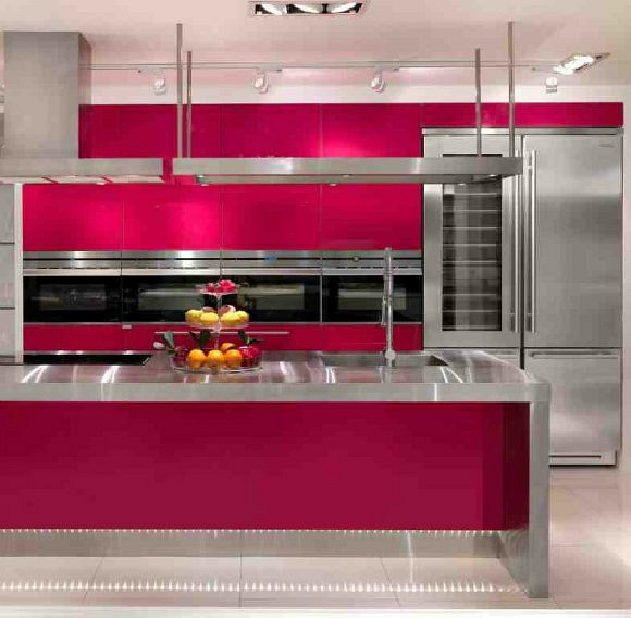 Kitchen Cabinets-Vivant Kitchen- Red
