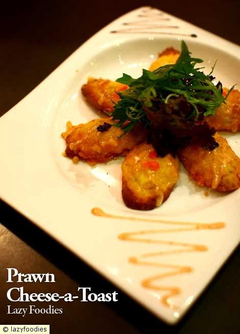 prawn cheese a-toast