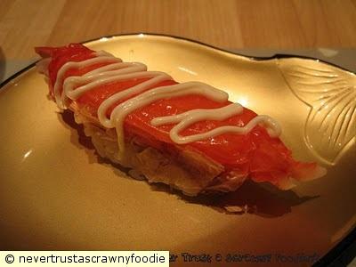 Crab leg sushi