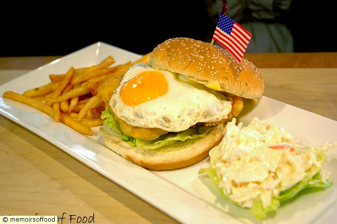 Crispy Fish & Egg Burger