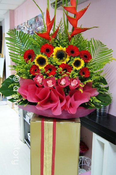 congratulatory floral stand design
