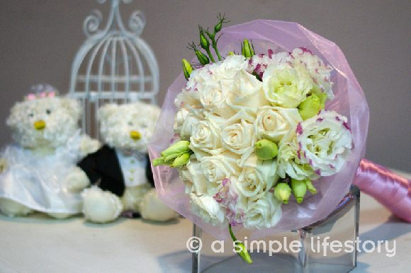 bridal hand posy design