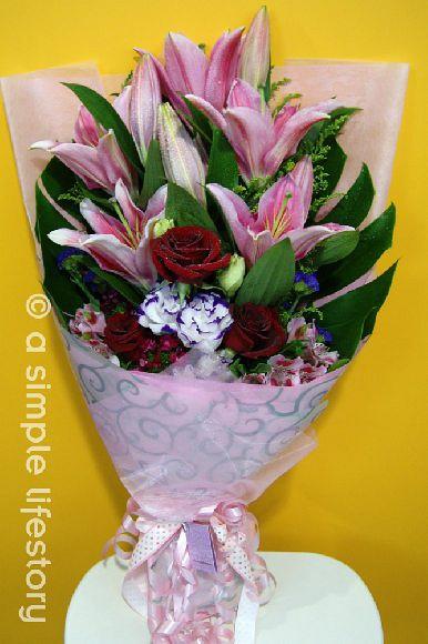 presentation hand bouquet