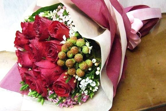 For All Occassions -  Supper Roses from $45 (as shown 1 doz supper roses @ $65)