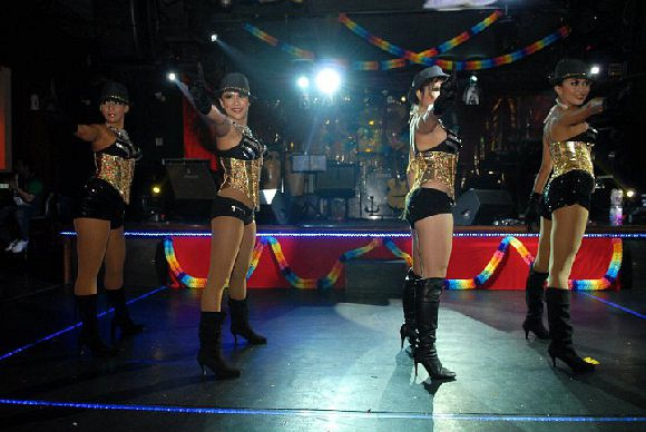 Performacers performing at Naughty Girls Club