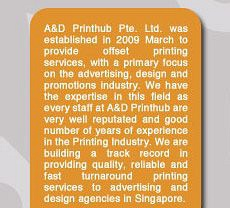 A & D Printhub Pte Ltd Photos