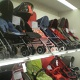 Pushchairs section