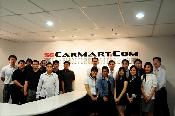 Staff of sgCarMart 2008