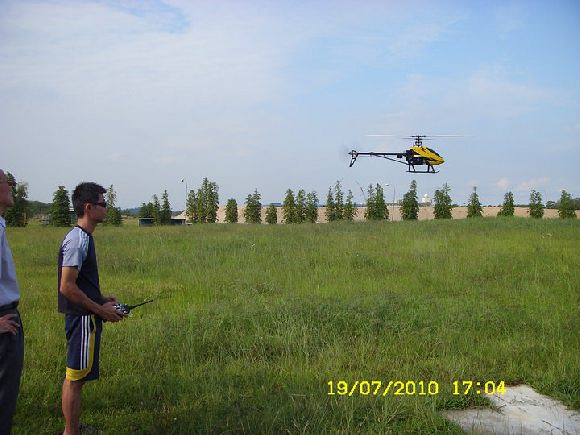 testing helicopter for customers