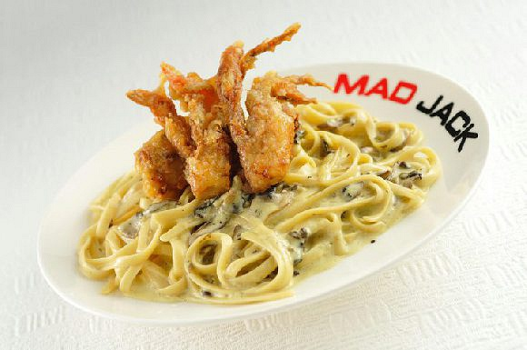 Soft Shell Crab Linguini in Cream Sauce