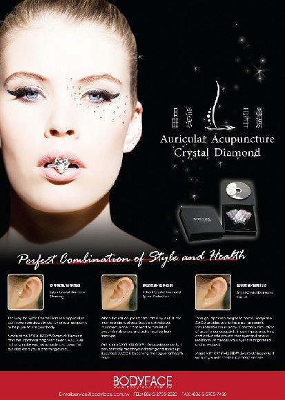 Aricular Acupunture Crystal Diamond