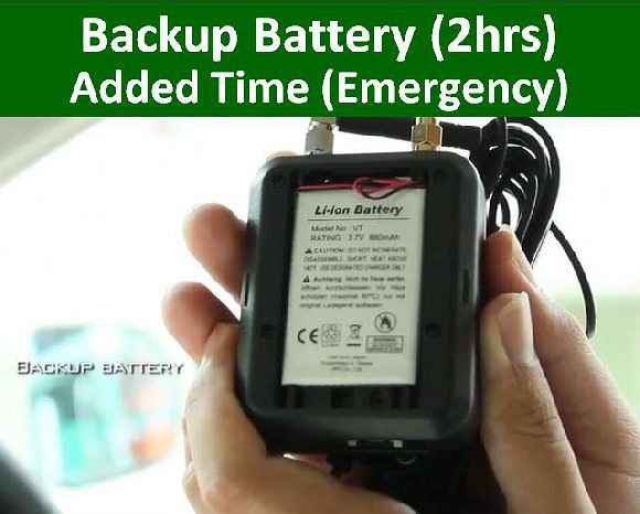2hrs Backup battery
