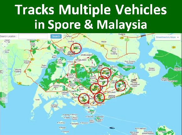 Tracks Unlimited Vehicles Realtime in SG & MY