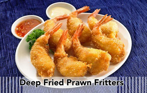 Deep Fried Prawn Fritters