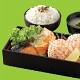 Salmon teriyaki and hotate mentaiyaki bento set