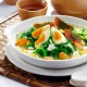 Poached Chinese Spinach with Assorted Eggs