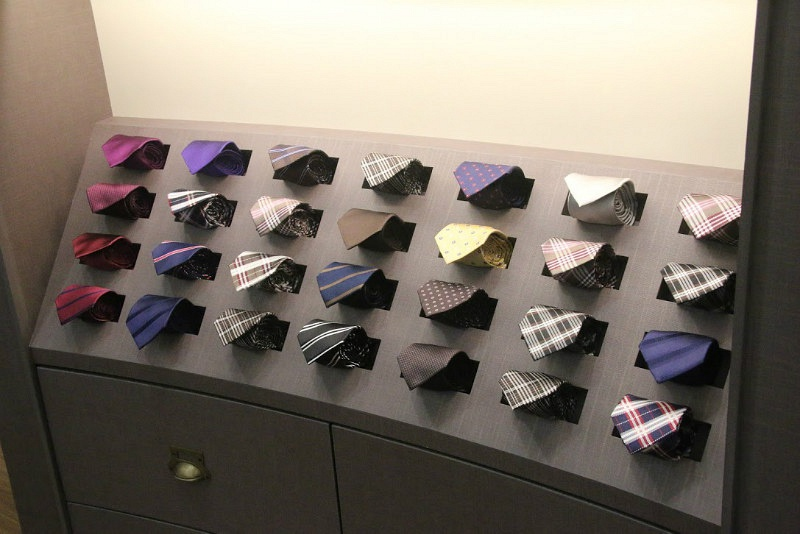 CYC Made to Measure Tie Display