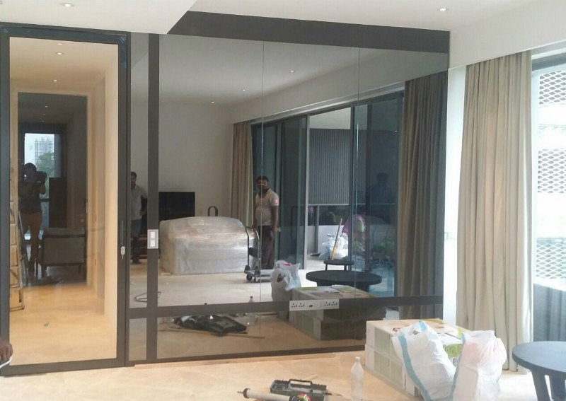 Feature Mirror Wall