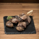 grilled Wagyu beef on a skewer