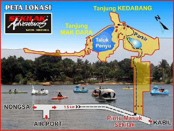 Location Sekilak Beach